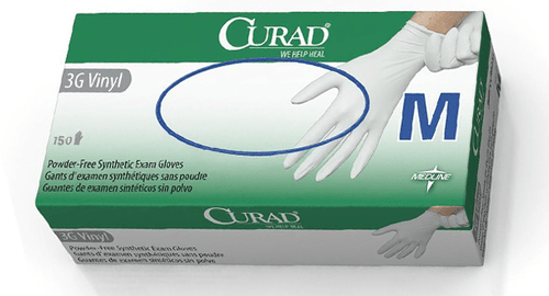 Curad Powder-Free Medical Vinyl Gloves, 150 Gloves/Box (M) - CanMedic Tech