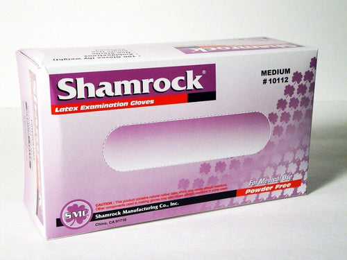 SMC Shamrock Latex Examination Gloves (100 PCs) - CanMedic Tech
