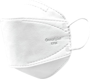 KF94 Protective Mask Universal Size 5PCS White Non-Woven Fabric - CanMedic Tech