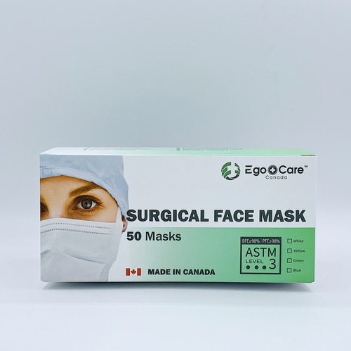 EgoCare ASTM Level 3 Surgical Face Mask(50 PCS) - CanMedic Technology Inc.