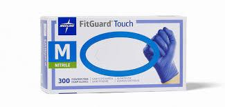 Medline FitGuard Touch Nitrile Exam Gloves (S/M/L) - CanMedic Tech