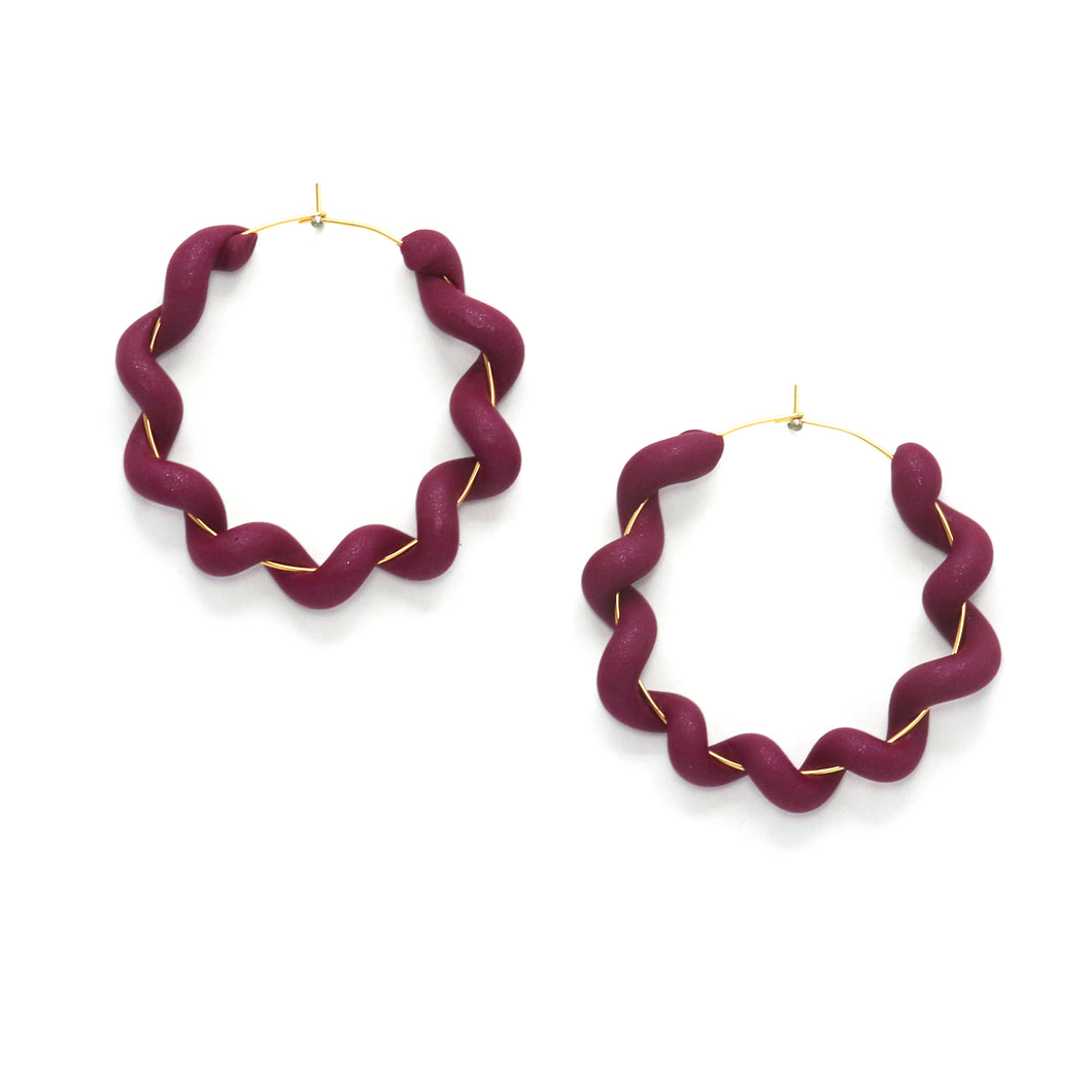 polymer clay wrapped hoops - bold style perfect for special occasion