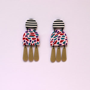 Merry & Bright - Drippy Drop Short Arch Statement Earrings