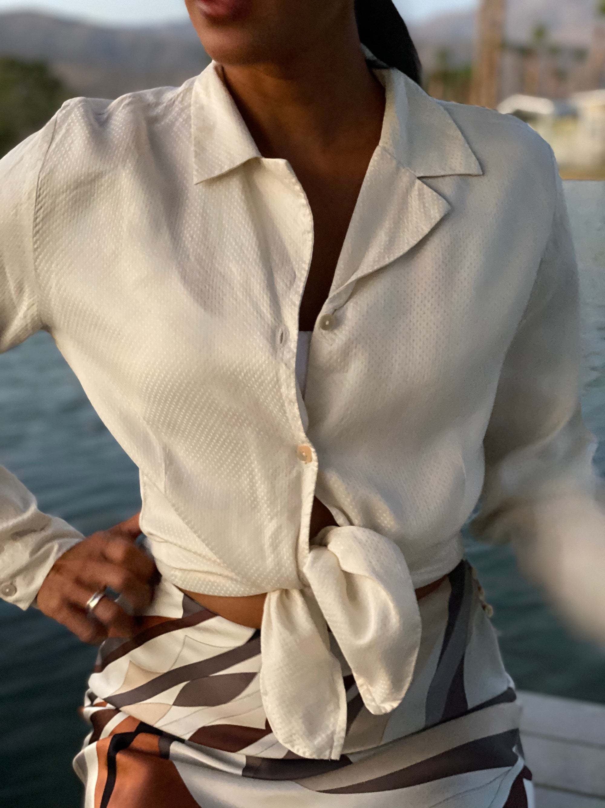 Burberry Silk Button Up Blouse