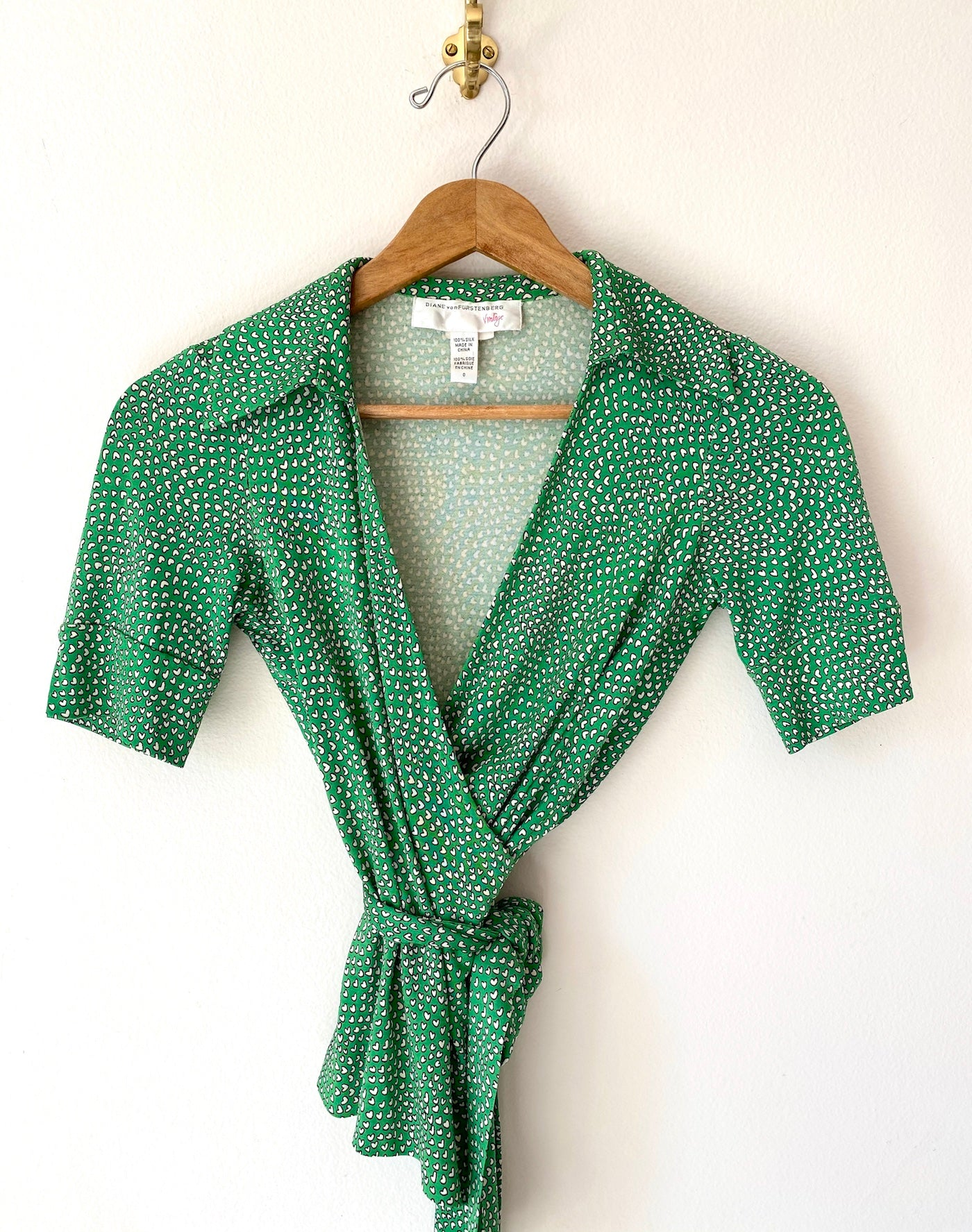DVF Wrap Top - Green
