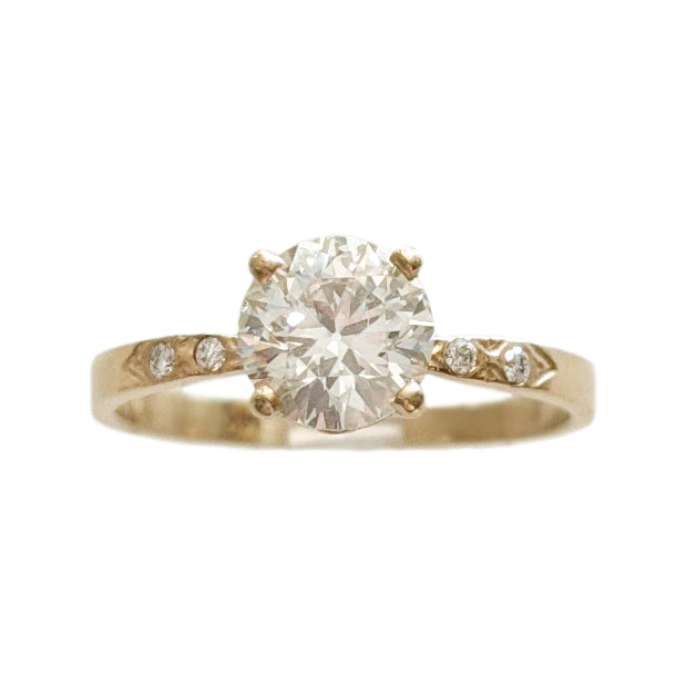 1ct Old European Cut Cinched Band Solitaire