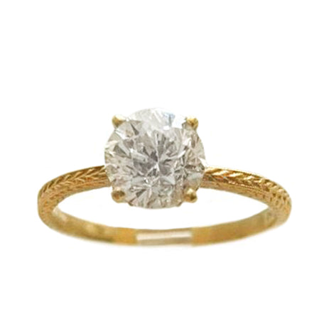 1.25ct Diamond Wheat Solitaire