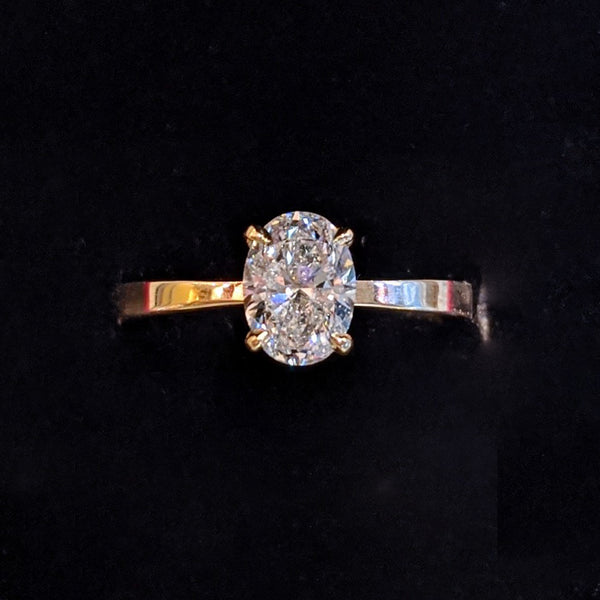 1ct Oval Diamond Solitaire Engagement Ring