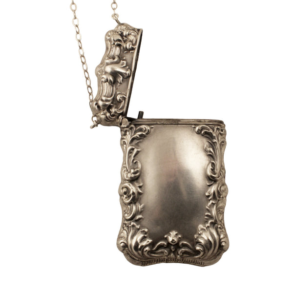 50% Off! Art Deco Silver Box Necklace