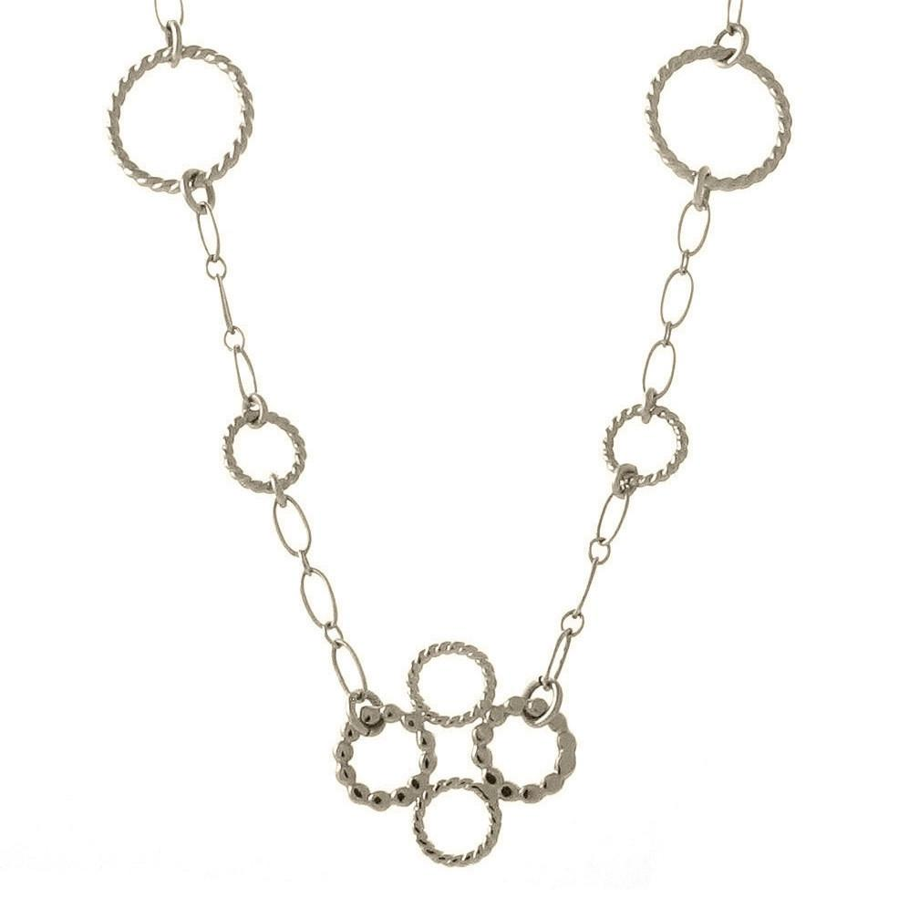 Circle Cross Necklace on Chain