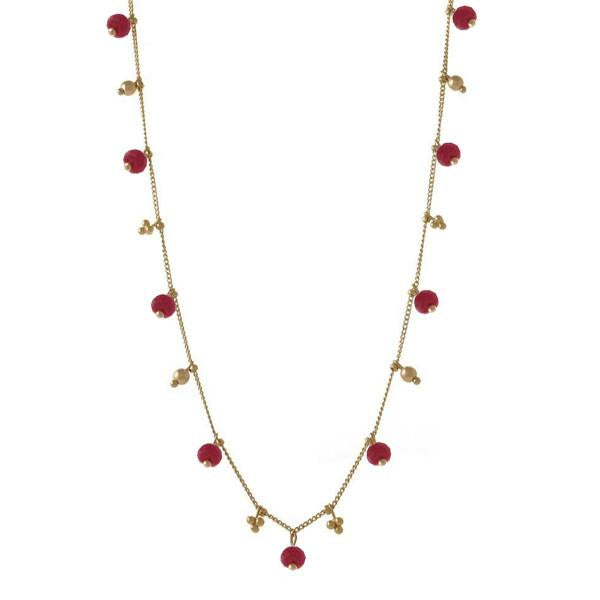 Simple Chain with Precious Gemstones
