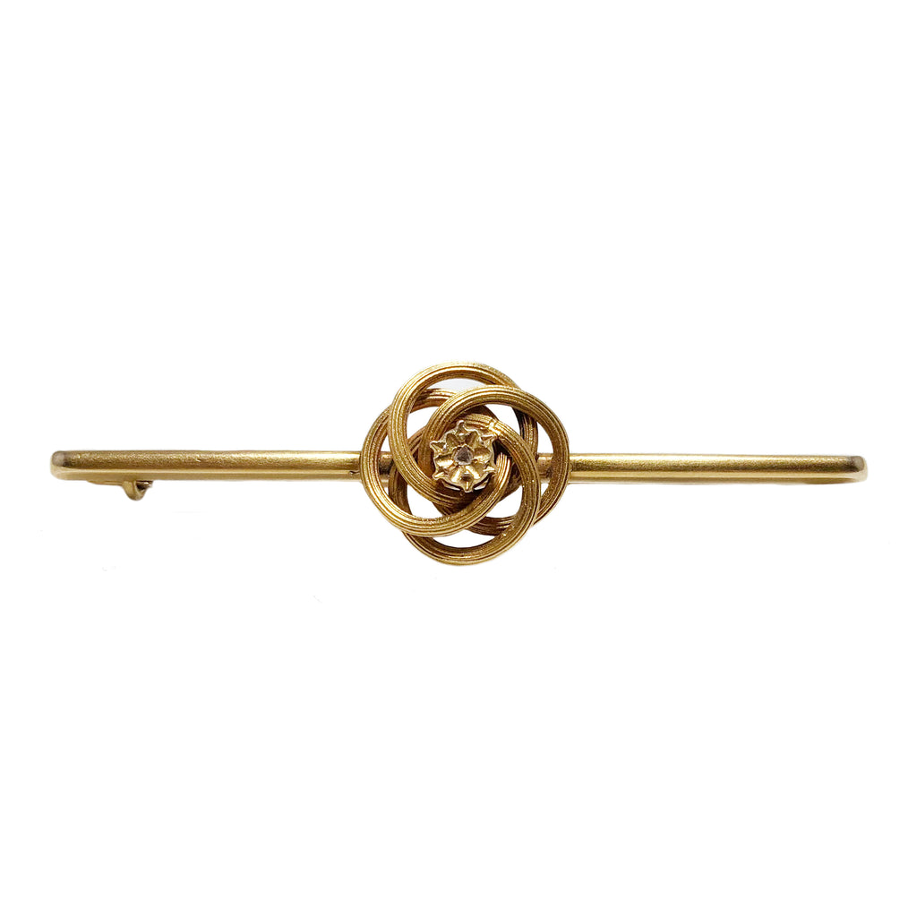 14k Love Knot Brooch