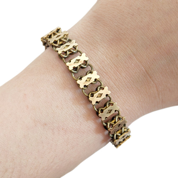 20% Off! Victorian 14k Gold Fill Book Chain Bracelet