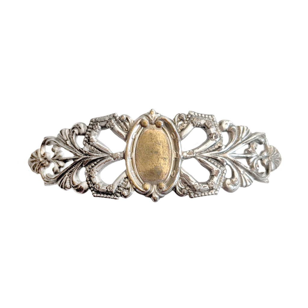 Antique and Vintage Silver Conversion Cuff Bracelet