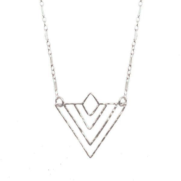 20% Off! Hammered Deco Triangle Necklace