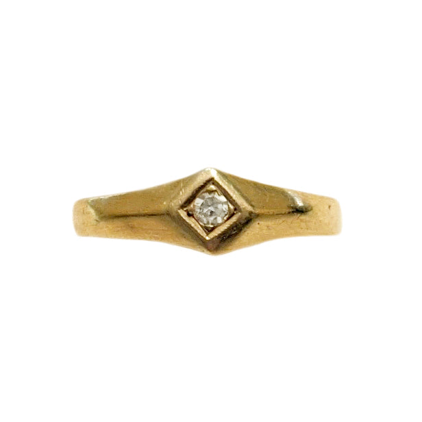 Victorian 14k Diamond Baby Ring
