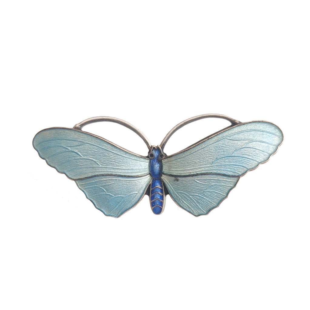 1916 Silver and Enamel Butterfly Pin