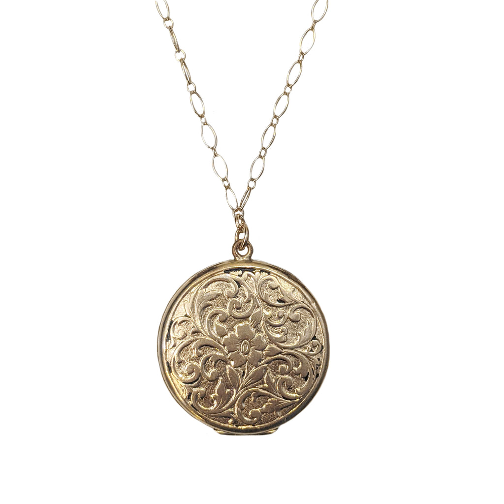 Antique Floral Scrollwork Locket
