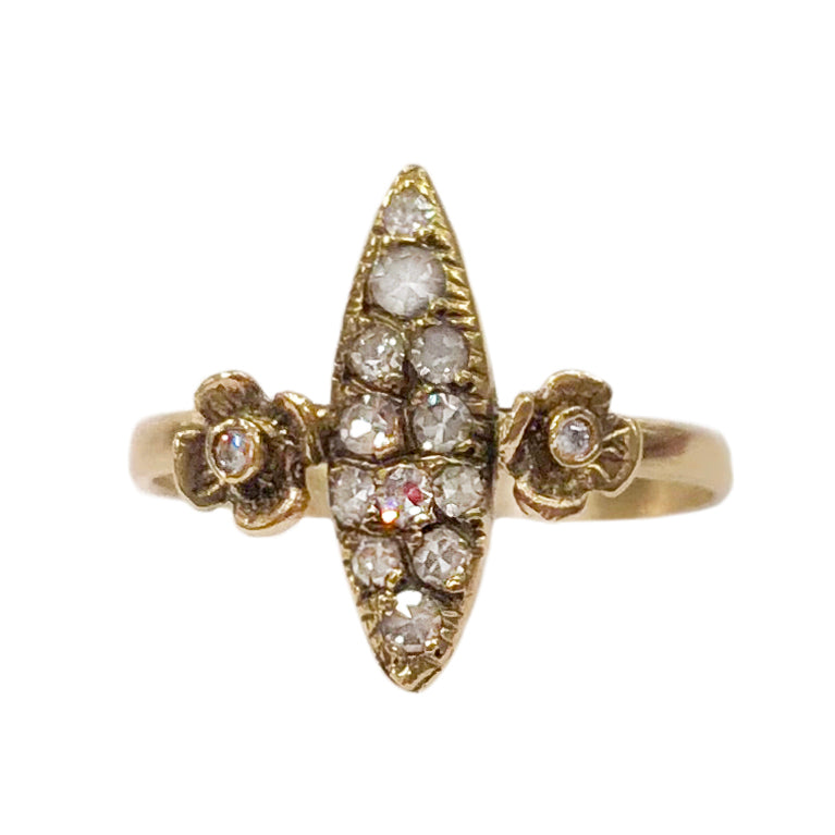 Pavé Flower Ring