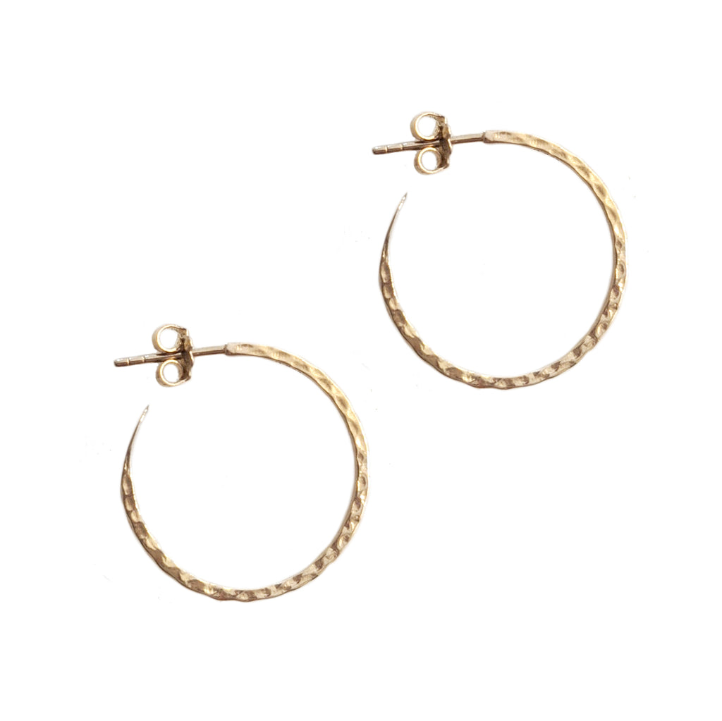 Thin Hammered Hoops