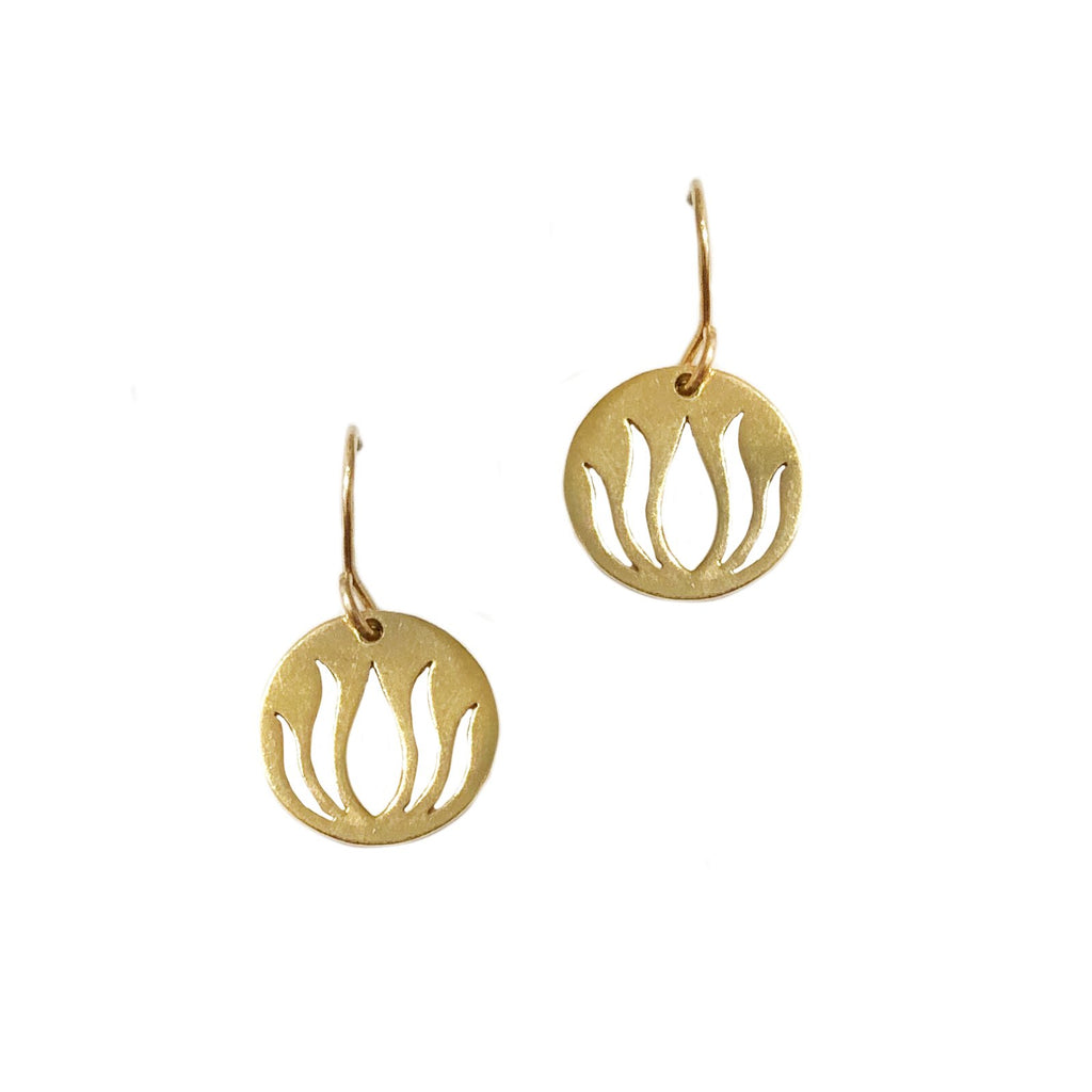 Lotus Cutout Earrings
