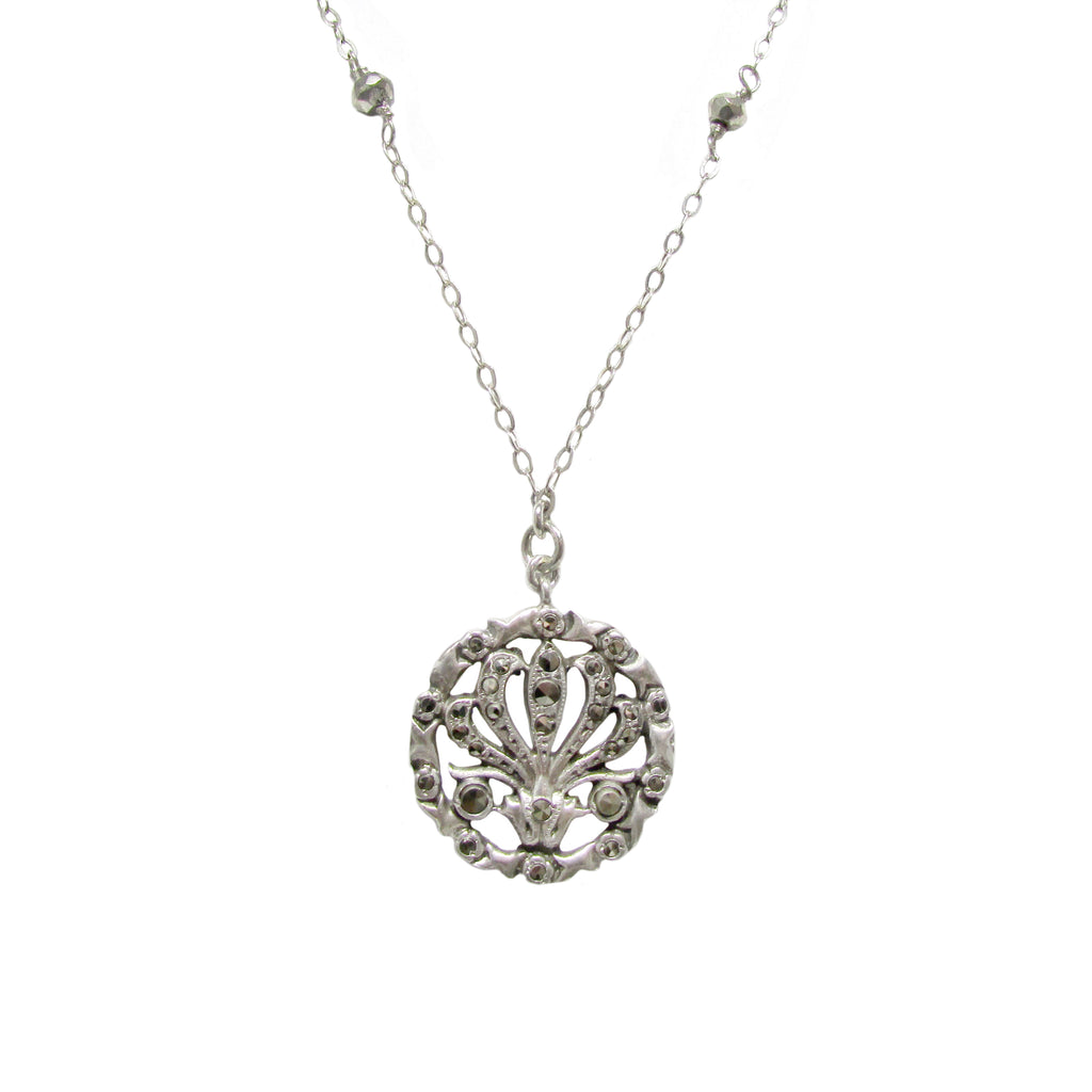 20% Off! Marcasite & Silver Medallion