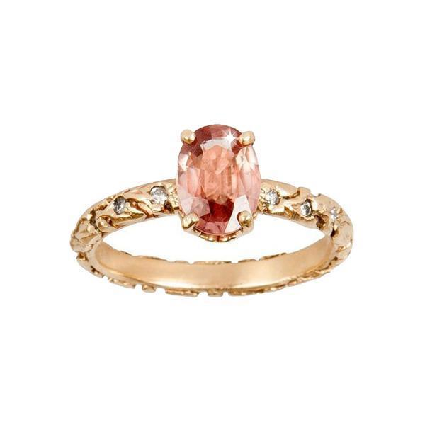 Morganite Vine Ring