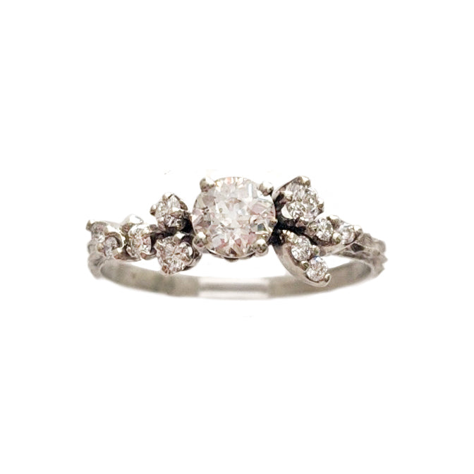 Asymmetrical Diamond Cluster Ring