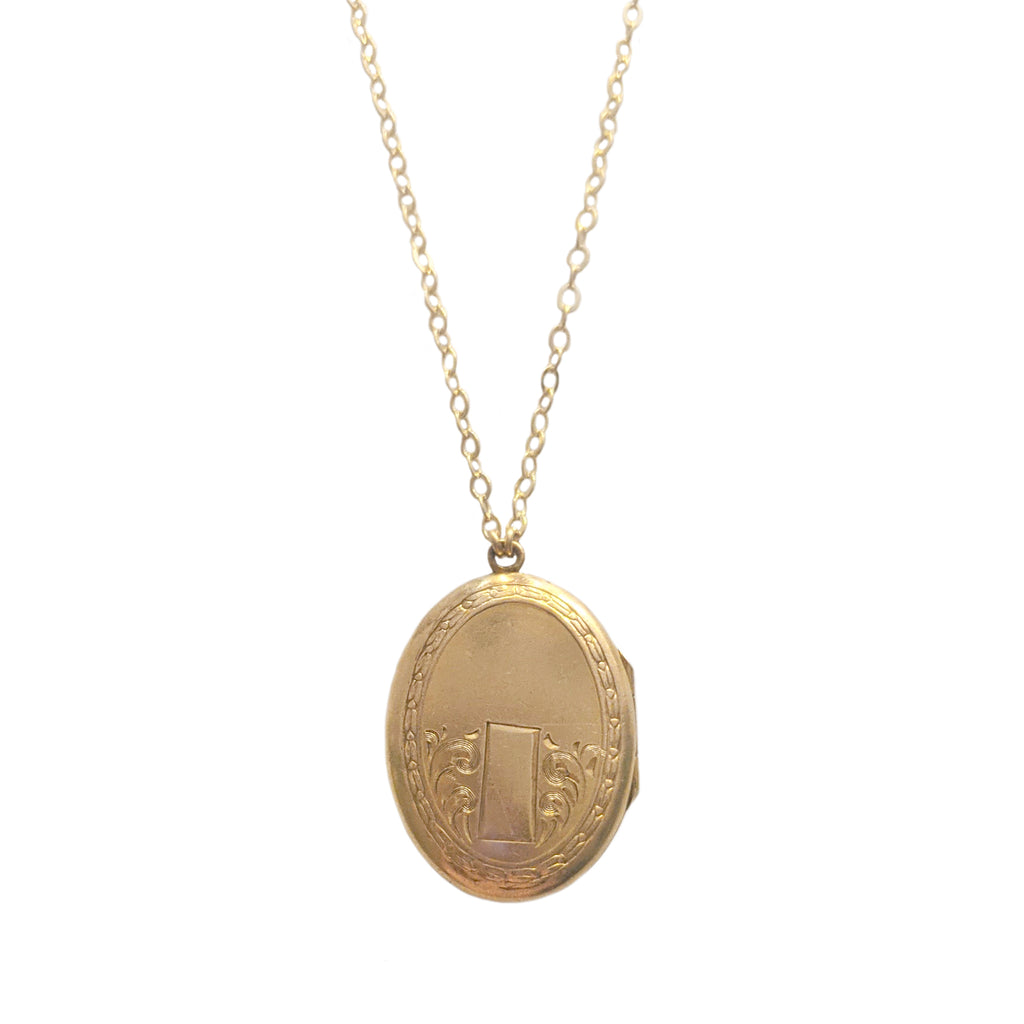 Antique Gold Fill Engraved Locket