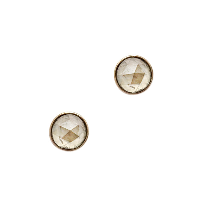 14k Rose Cut Natural Diamond Studs