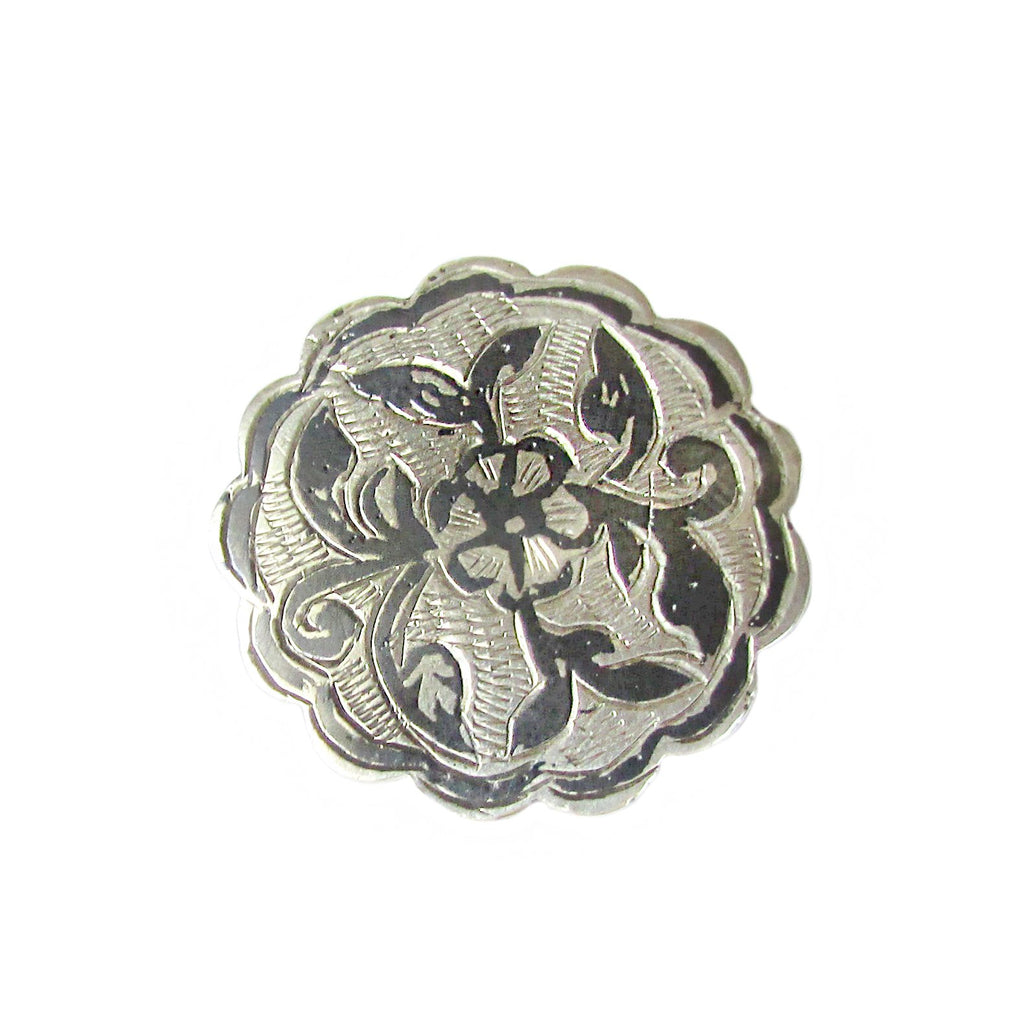 40% OFF! Art Nouveau Silver Scalloped Edge Pin