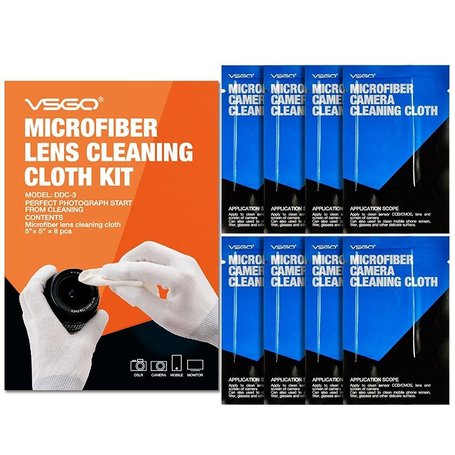 VSGO DDC-3 Microfibre Lens Cleaning Cloth Kit