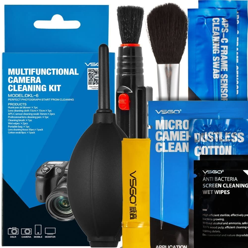 VSGO DKL-6 Sensor, Lens and Screen Cleaning Kits