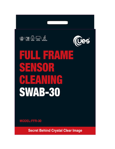 UES FFR-30 Full-Frame Sensor Cleaning Swabs (30 X 24mm Sensor Cleaning Swabs)