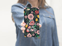 It's Cool To Be Kind iPhone Case
