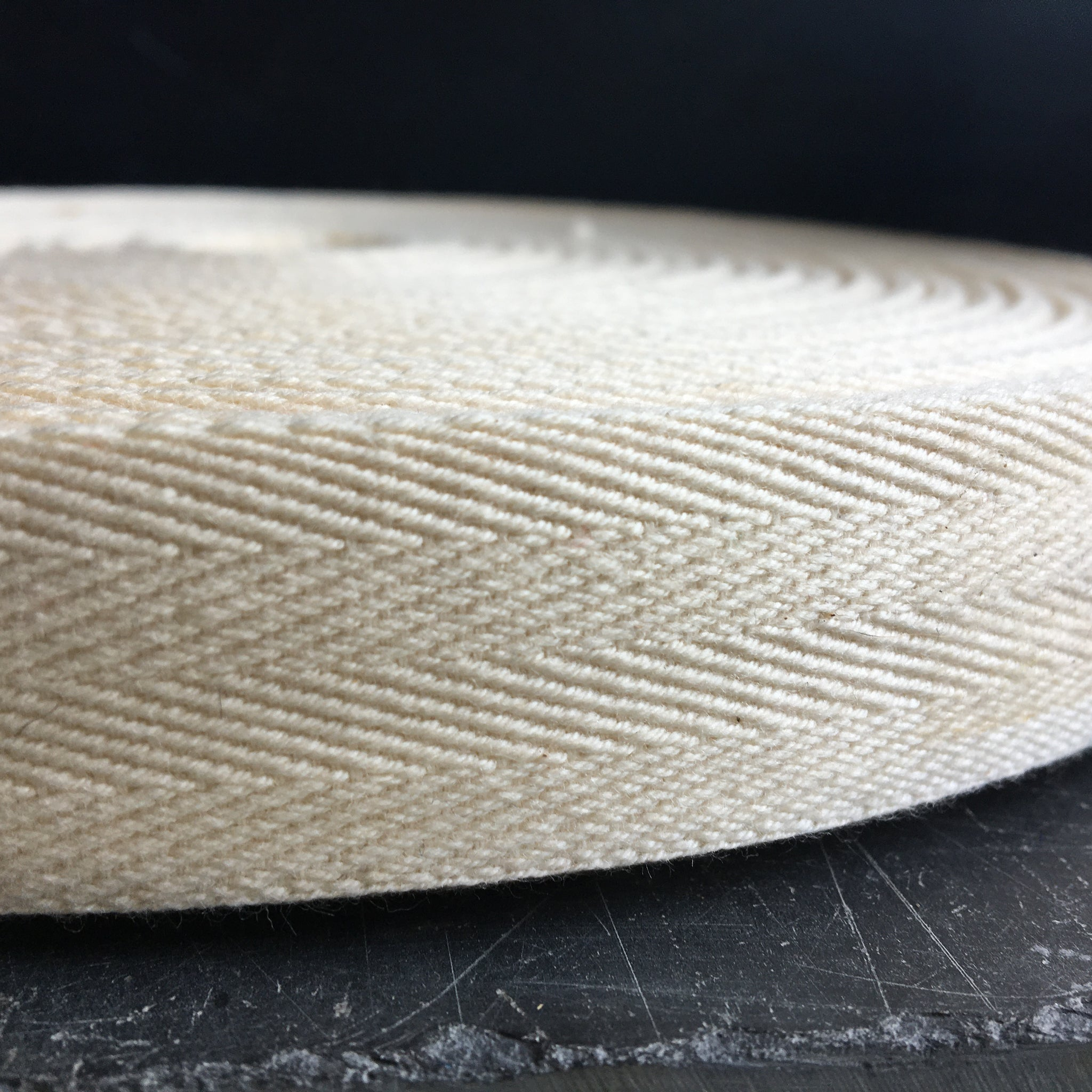 Personalised Cotton Herringbone Ribbon 25mm wide