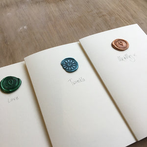 Christmas cards with wax seal contemporay design