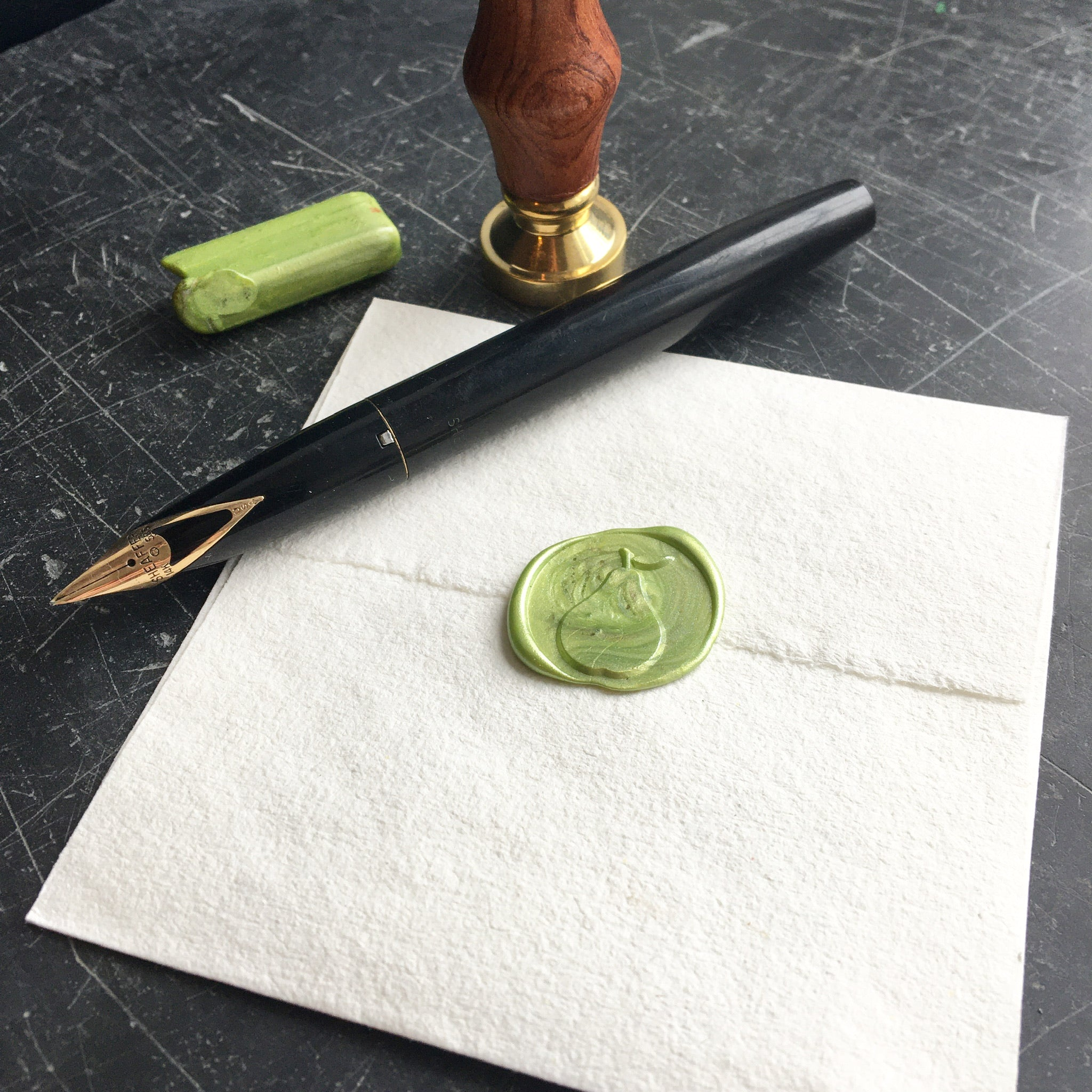 Brass Wax Seal with Pear