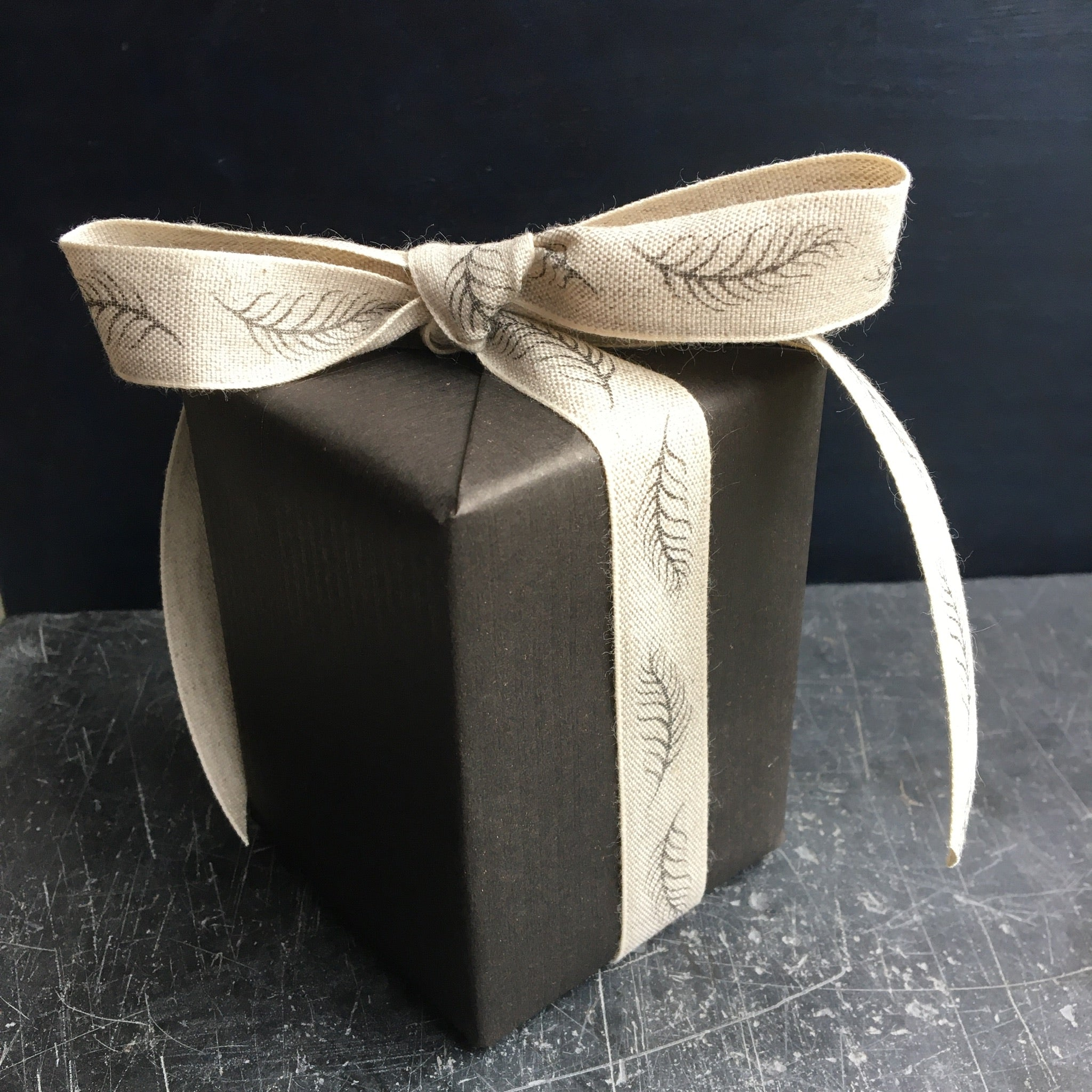Gift wrapt box tied with a bow