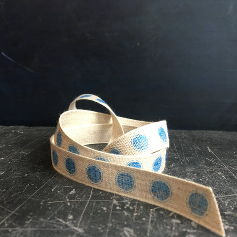Blue ribbon for gift wrapping