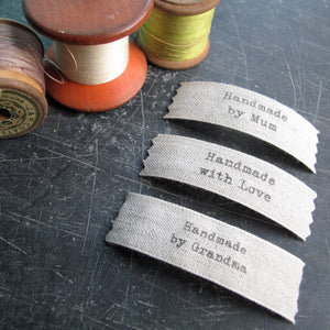 Sew in label for crafting projets