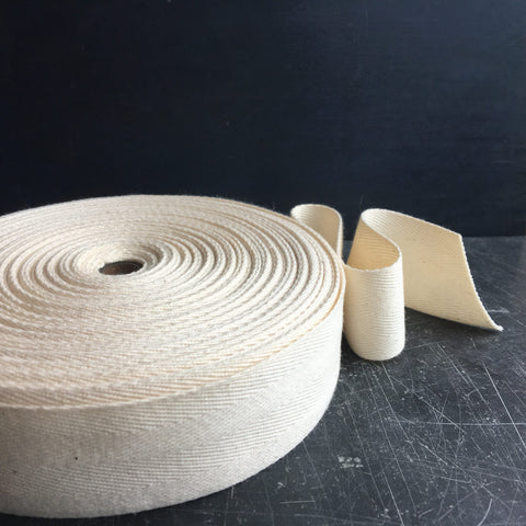 Wide natural cotton ribbon 40mm