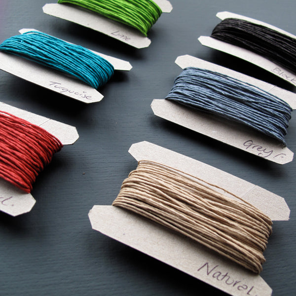 Paper string for gift wrapping