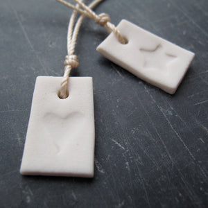 Handmade wedding favours porcelain