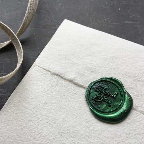 Thank you, wax seal