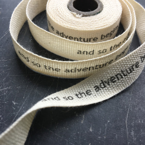 10mm personailsed ribbon in cotton