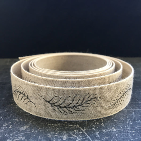Caltonberry linen ribbon designs feather