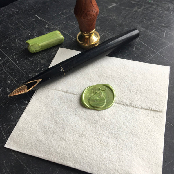 Pear wax seal stamp