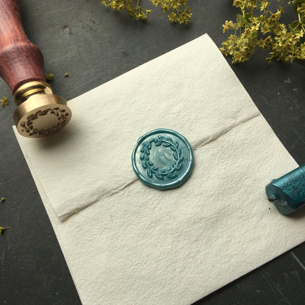 Brass Wreath  Wax Seal