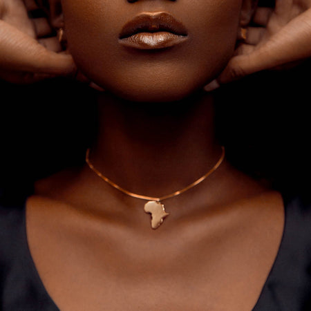 Africa Gold Continent Pendent